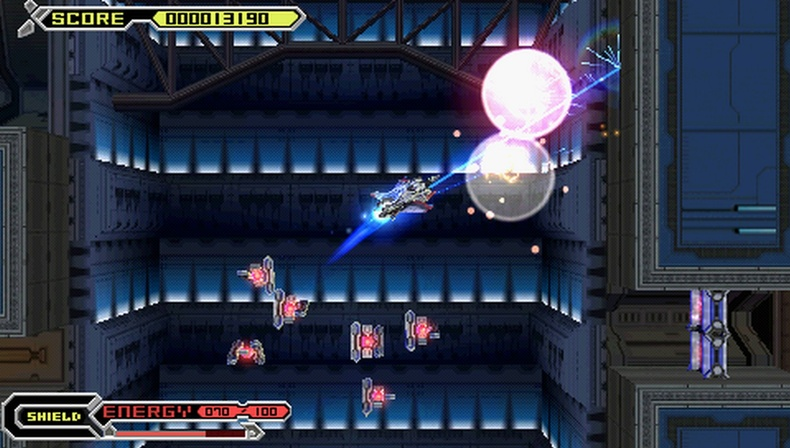 Thexder Neo PSP screenshots armed and ready