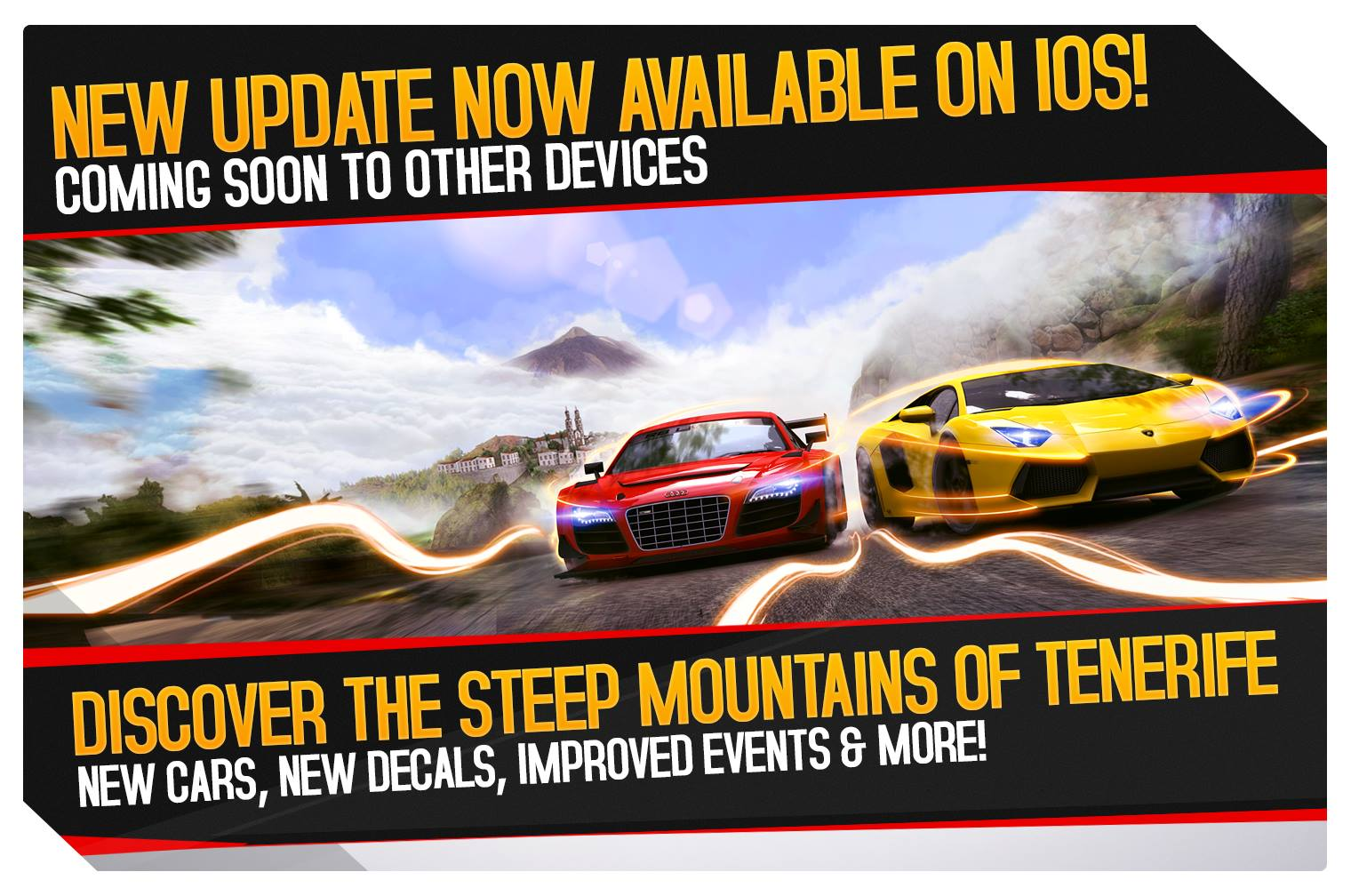 Asphalt 8: Airborne update adds Tenerife tracks, new cars, Apple Watch support, more