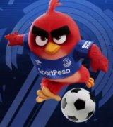 Angry Birds is the first sleeve sponsor for Everton F.C.