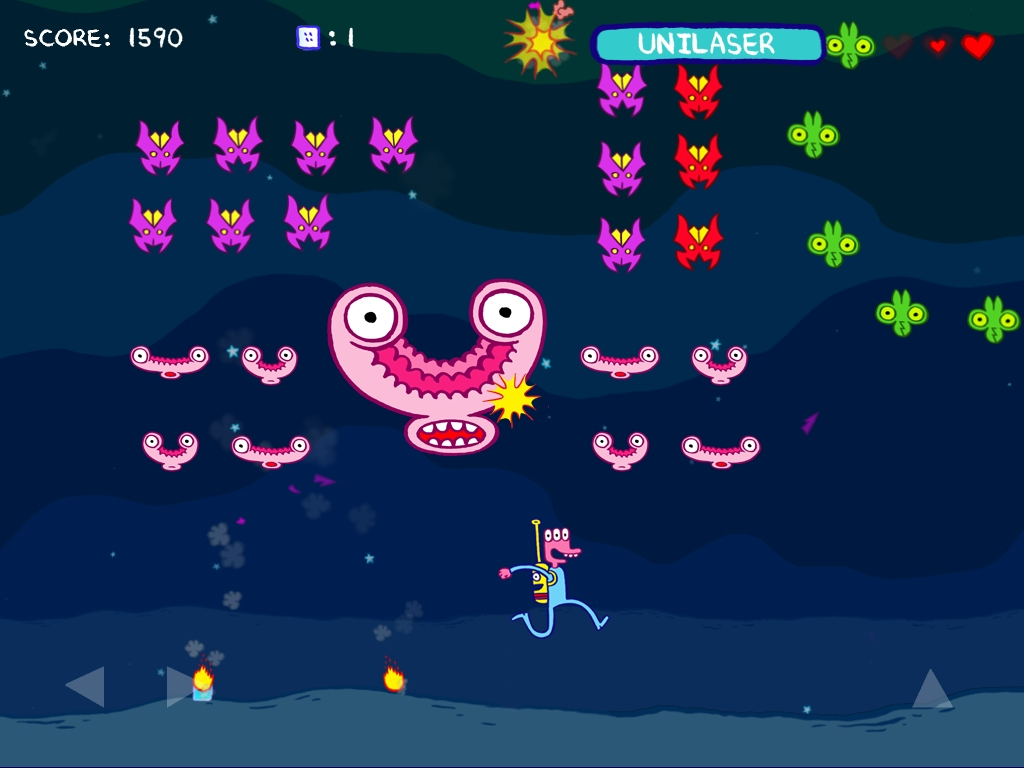 Pixeljam updates comic space shooter Glorkian Warrior with new achievements and tilt controls