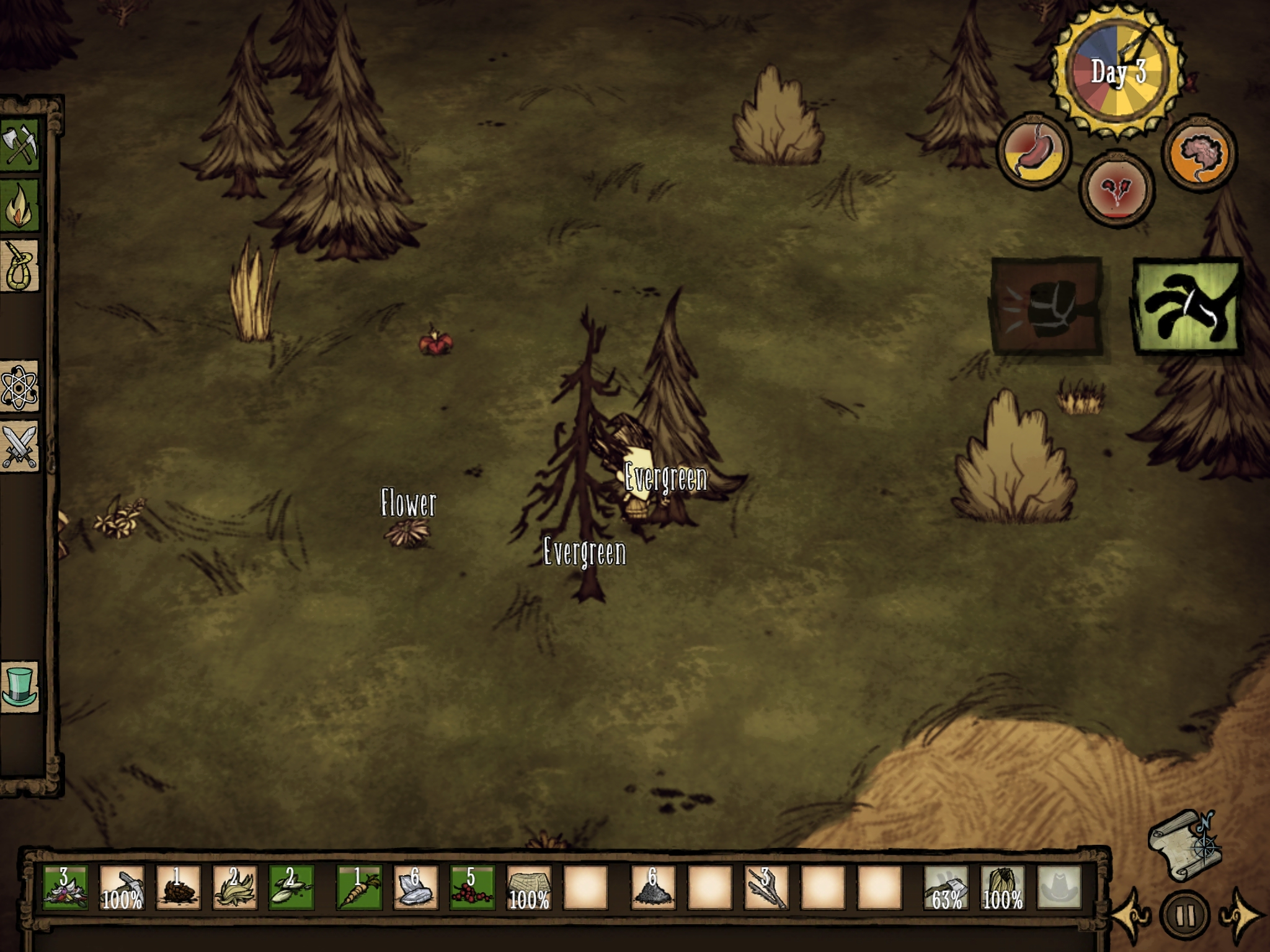 Don't Starve - Get lost, scared, cold, tired, and hungry
