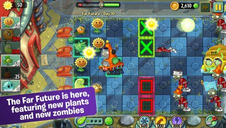 Plants vs Zombies 2: It's About Time has been updated with a new world, new plants, and some other stuff
