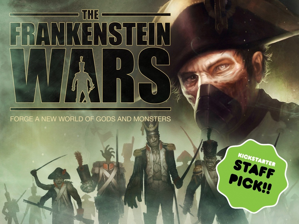 You can kickstart a gamebook about Frankenstein's zombie army