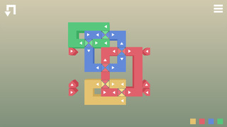 Expand, contract, and combine bands of color in puzzle sequel Fold+