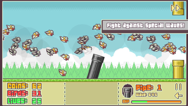 Fancy shooting Flappy Bird with a cannon ball? Flappy Defense lets you