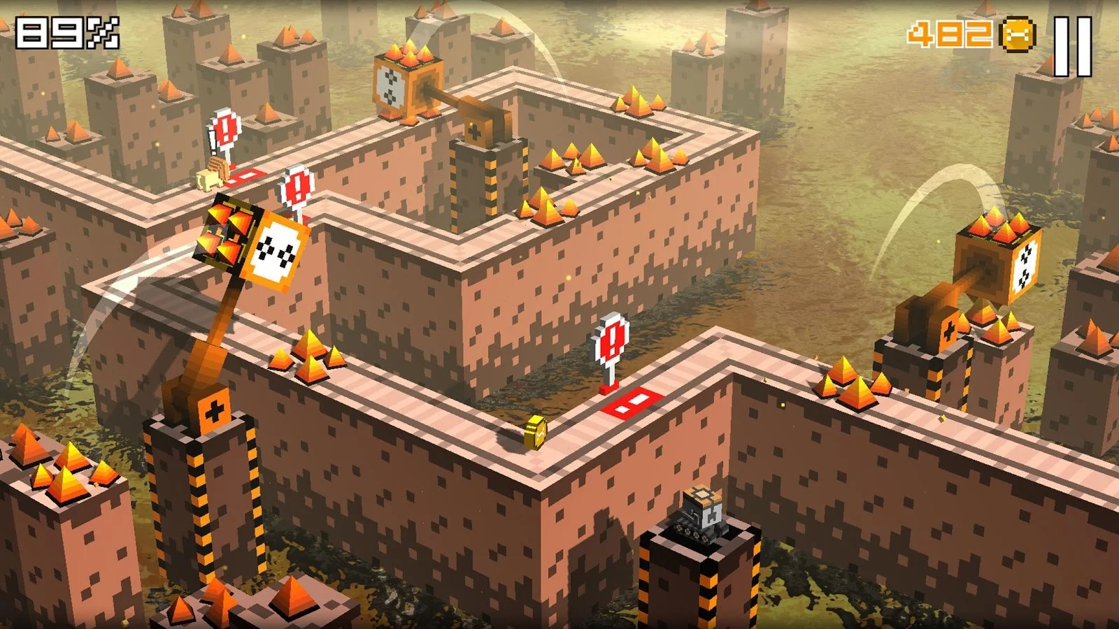 Cliffy Jump is a voxel endless runner with roguelike elements