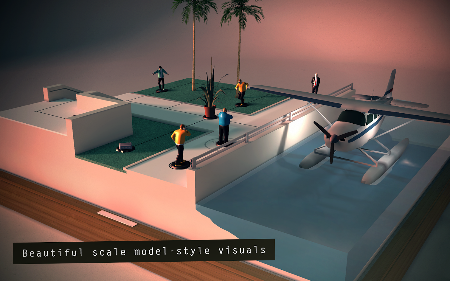 Square Enix Montreal built a level of Hitman GO in real life and its simply amazing