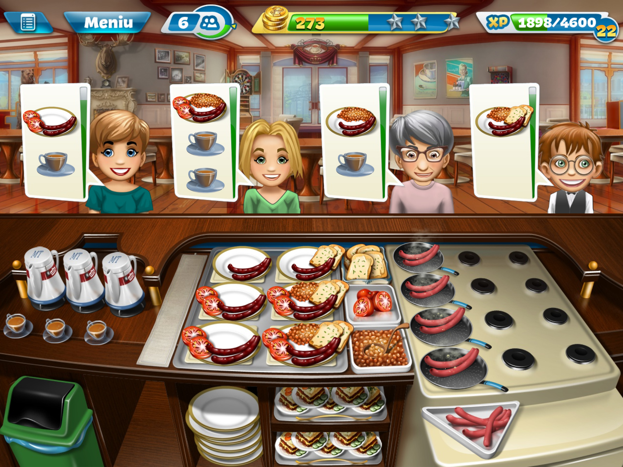 Cooking Fever tops the charts once again thanks to latest Breakfast Café-themed update