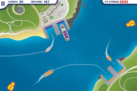 Bluetooth multiplayer for iPhone line-drawing game Harbor Master