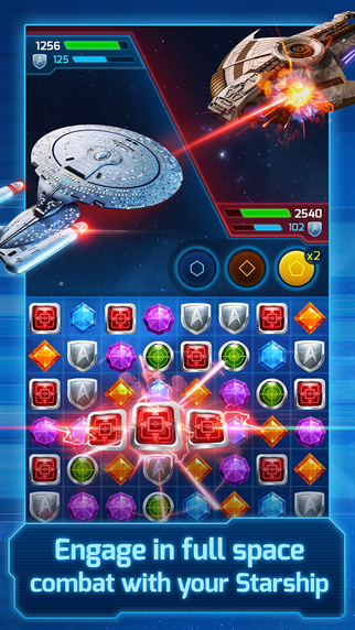 There's a new Star Trek game and it's a ... gem-matching puzzler