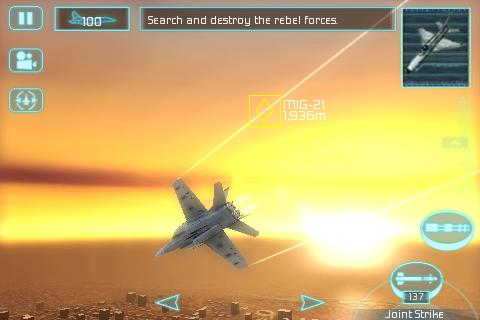 Tom Clancy's H.A.W.X takes flight on the iPhone
