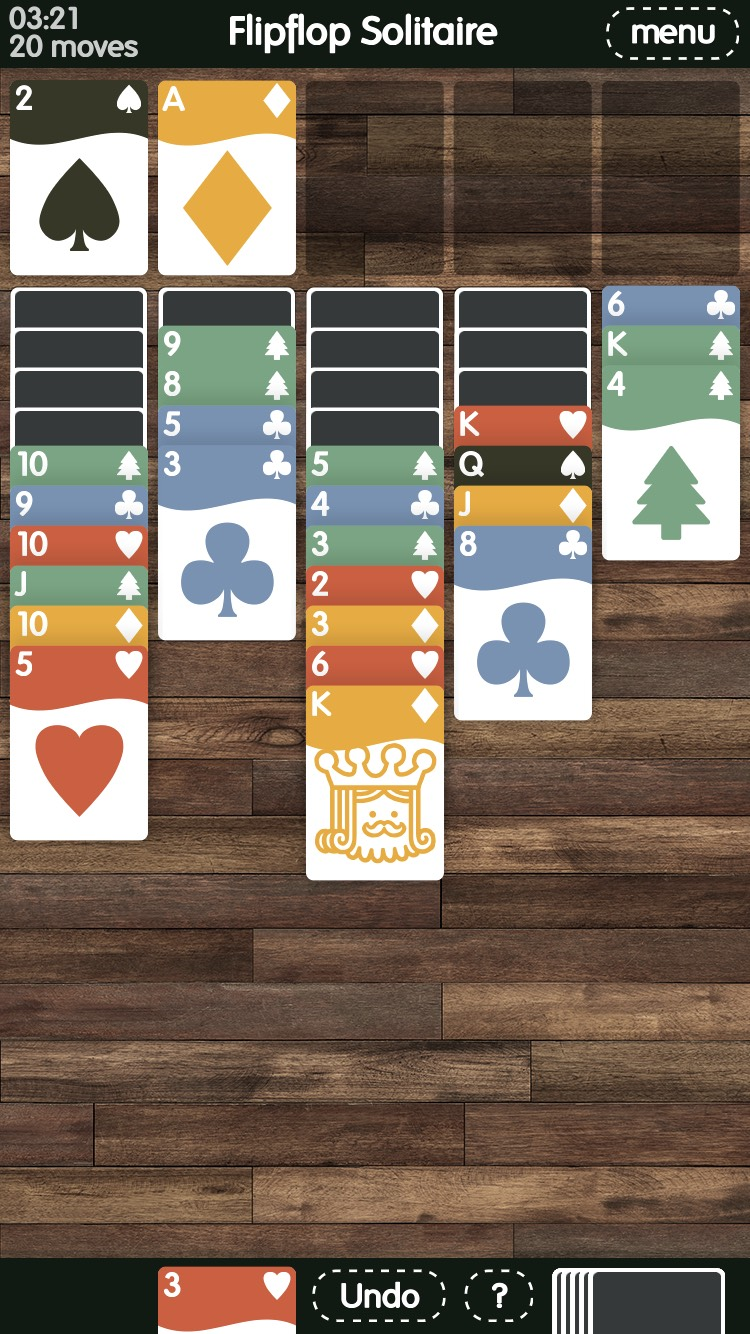 Flipflop Solitaire is yet another clever card game twist from Zach Gage