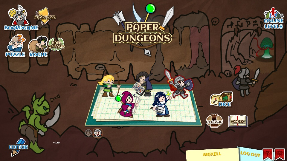 Paper Dungeons is a board game-style dungeon crawler on Android now
