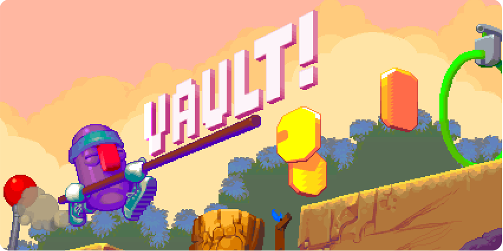 Nitrome's new pole-vaulting platformer Vault! is out now on iOS [Update]