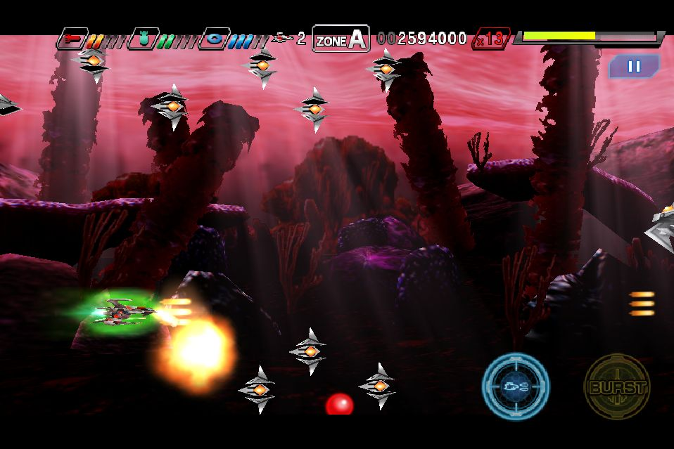 Taito's latest scrolling shooter Dariusburst: Second Prologue blasting onto iOS soon