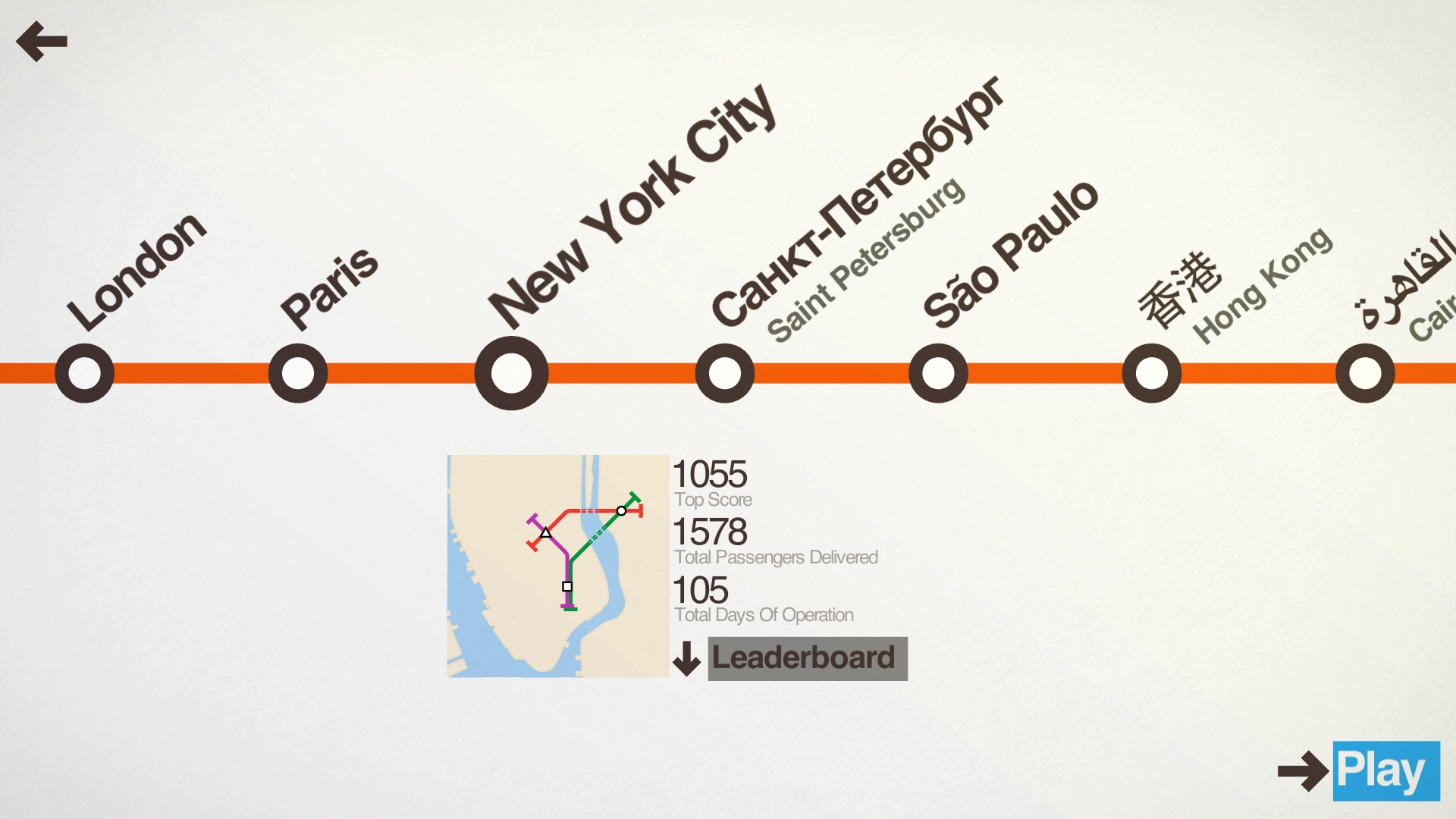 Mini Metro is no longer Mini as it expands to four new cities