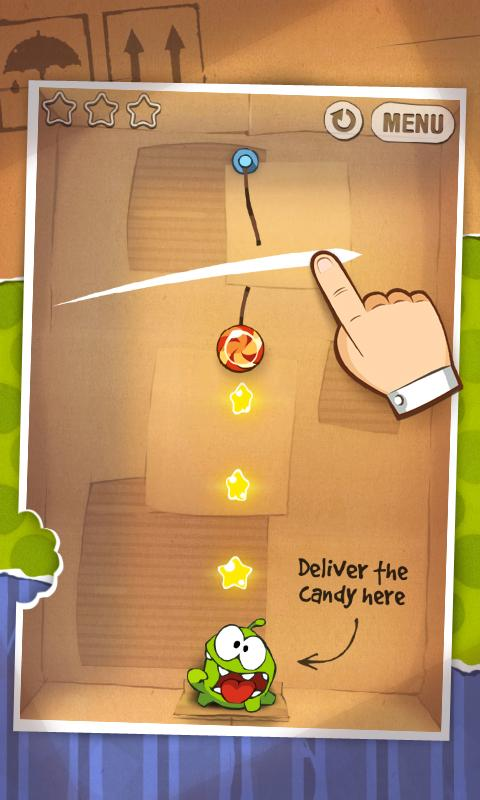 Physics-based puzzler Cut the Rope drops into the Android