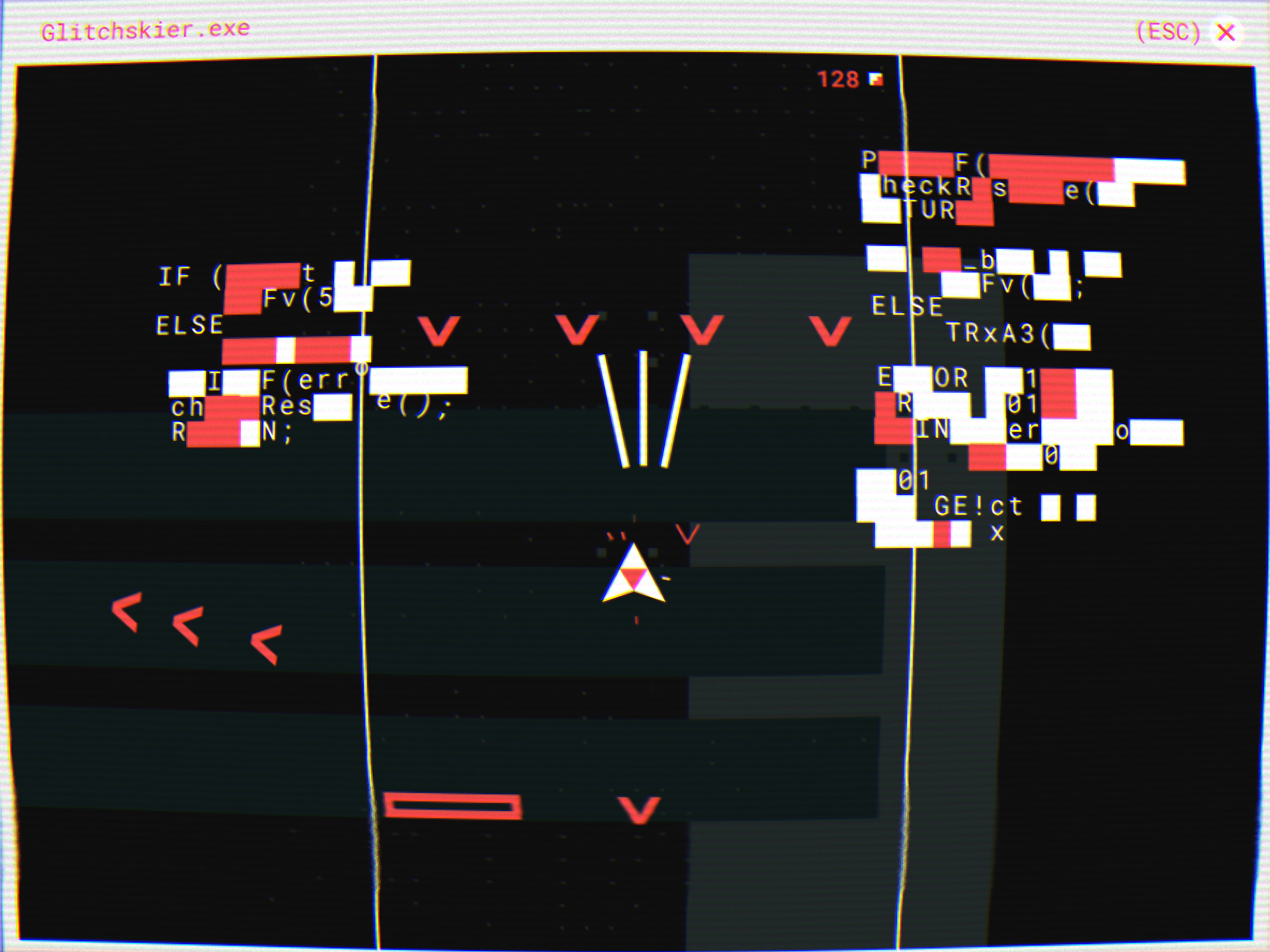 Wonderful, chaotic shooter Glitchskier is just 99p / 99c on the App Store