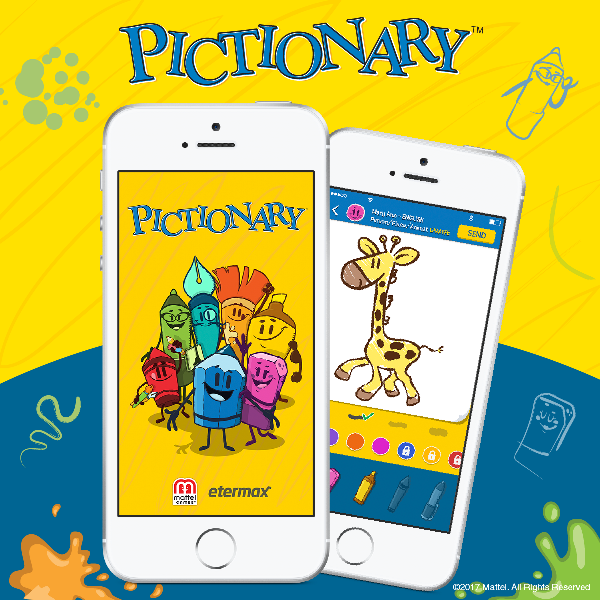 The popular drawing game Pictionary launches its first official mobile app