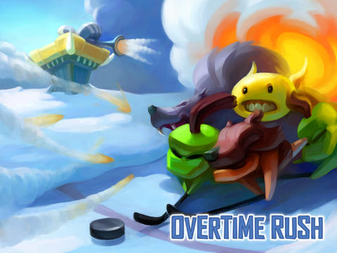 Out at midnight: Overtime Rush is a frozen tower defence game with ice hockey elements for iPad and iPhone