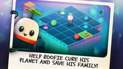 Solve rooftops of tricky puzzles in colorful charming RoofBot