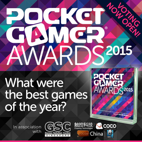 Time is running out to vote for the Pocket Gamer Awards 2015