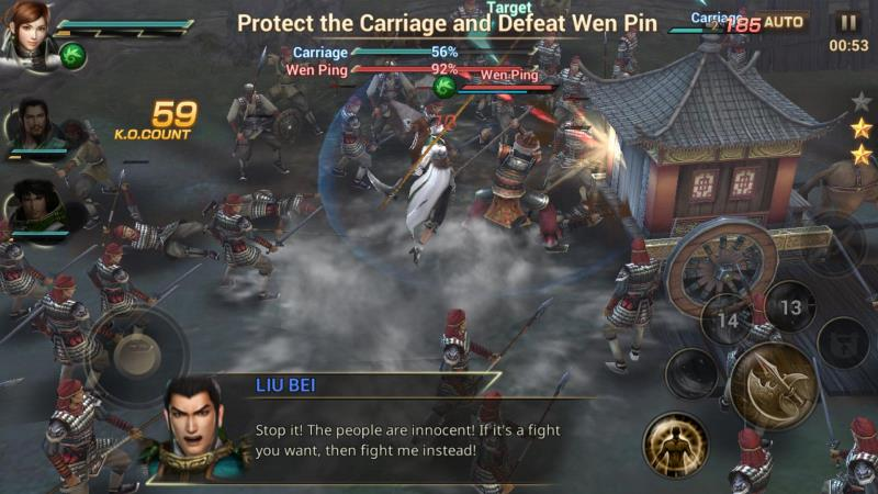 The action/combat game, Dynasty Warriors: Unleashed, launches for iPhone, iPad, and Android