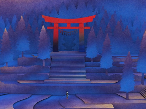 Nyamyam's meditative pop-up puzzler Tengami actually started life as a fast-paced 2D ninja platformer
