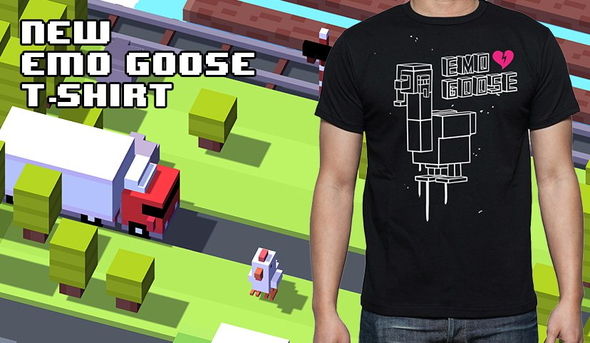 You can now buy Crossy Road t-shirts, hats, bags, everything at its official store