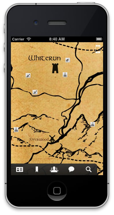 Dragon Shout 'interactive map' app for Skyrim coming to iOS devices later this week