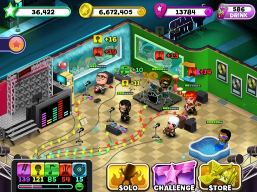 Play guitar, drums, or a swimming pool in the upcoming iOS music management game Band Stars