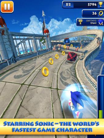 Sega's little blue mascot takes on Temple Run in new endless-runner Sonic Dash