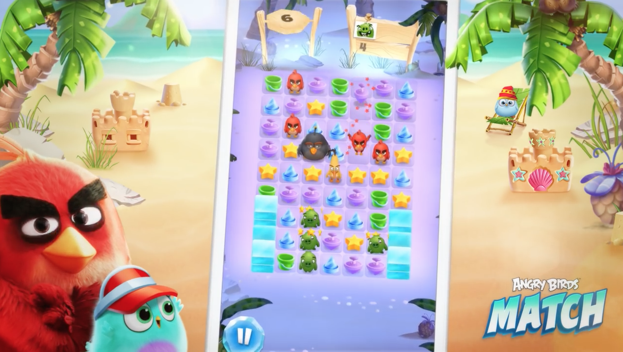 Rovio's just launched Angry Birds Match and it's a... match-three game