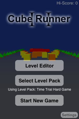 Cube Runner II released on iPhone