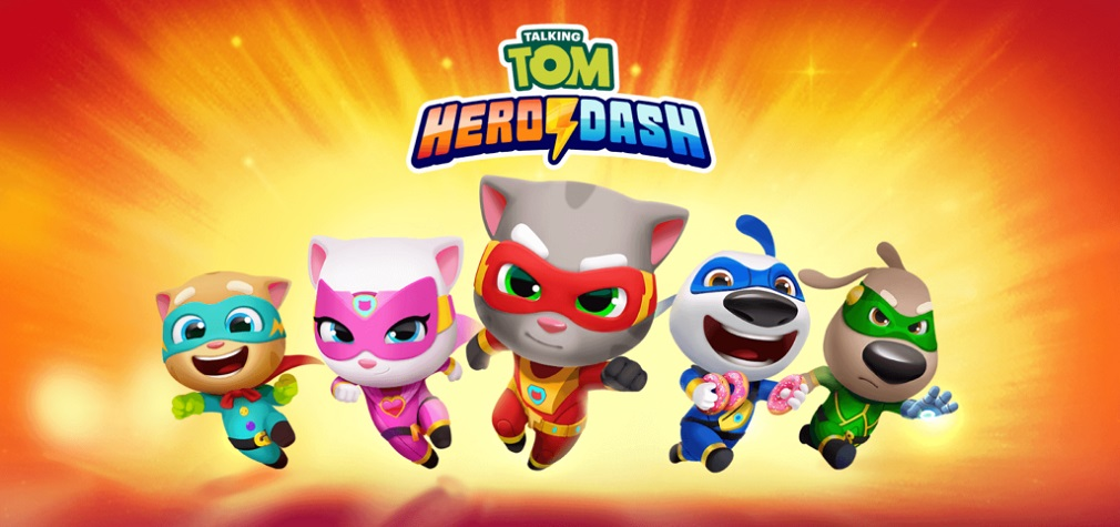 Awesome endless runner 'Talking Tom Hero Dash' offers a thrilling superhero adventure