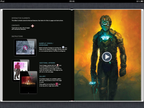 Download The Art of Dead Space from iBooks for behind-the-scenes interviews and more