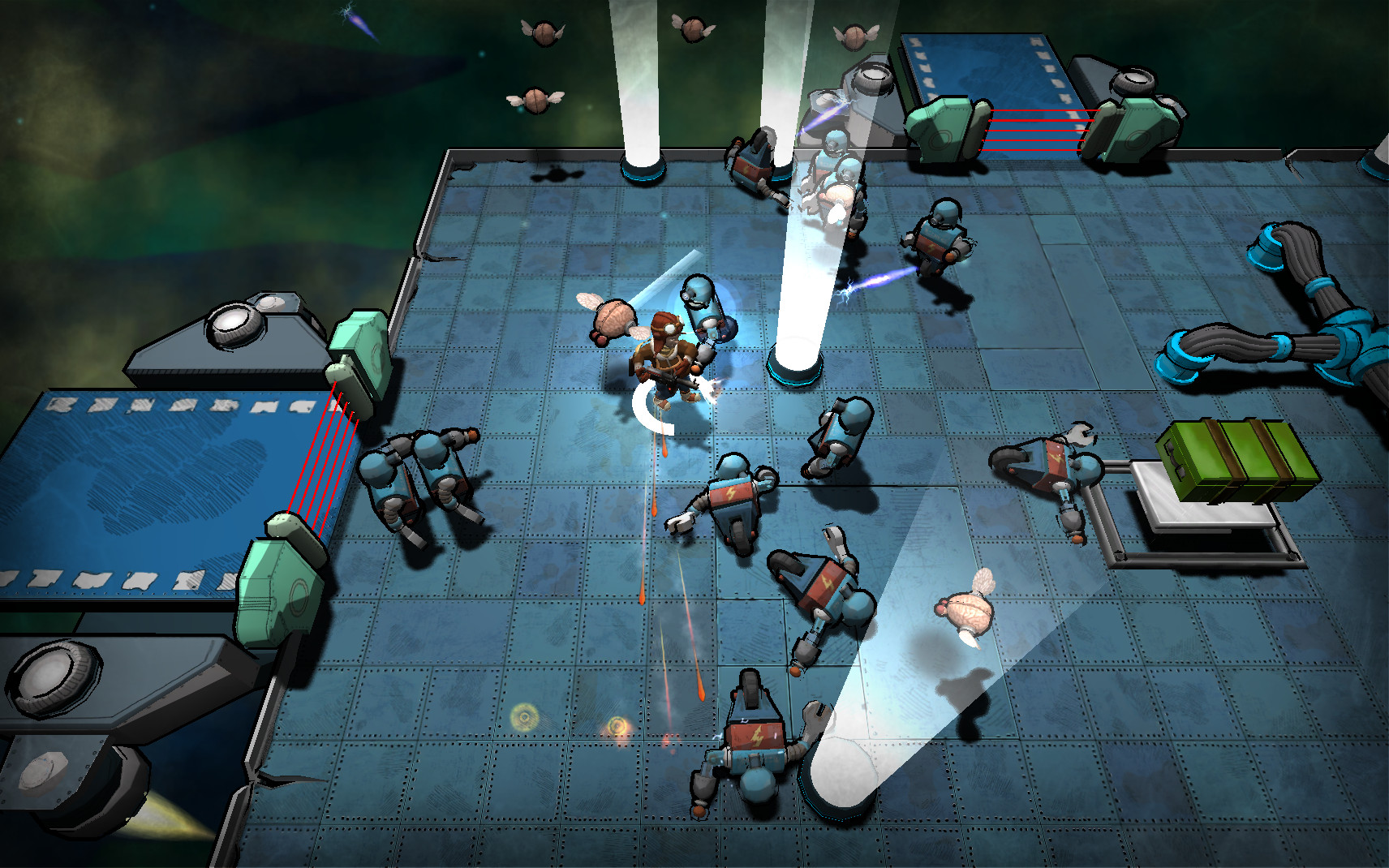Future Factory is an upcoming procedurally generated twin-stick shooter for mobile