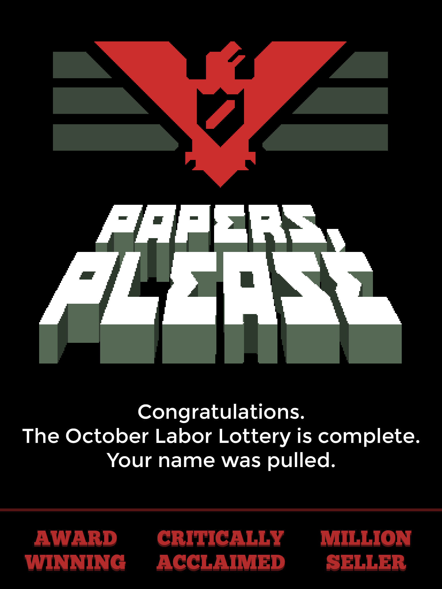 Papers, Please has made a speedy return to the App Store [Update]