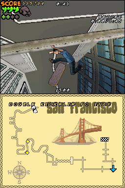 Brand new DS screens of Tony Hawk's Downhill Jam