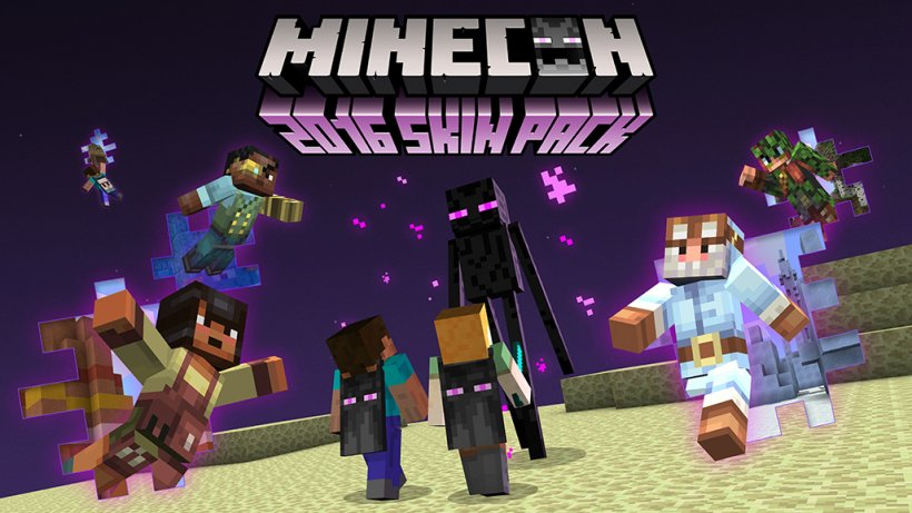 Minecon 2016 skin packs feature Biome-themed explorers and Enderman capes