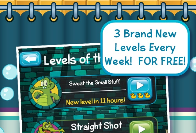 Where's My Water? for iPhone and iPad getting new levels every week