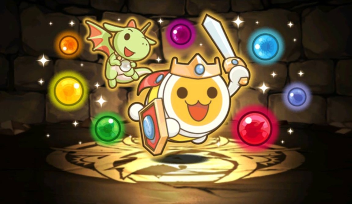 Taiko Drum Master's mascot shows up in Puzzle and Dragons