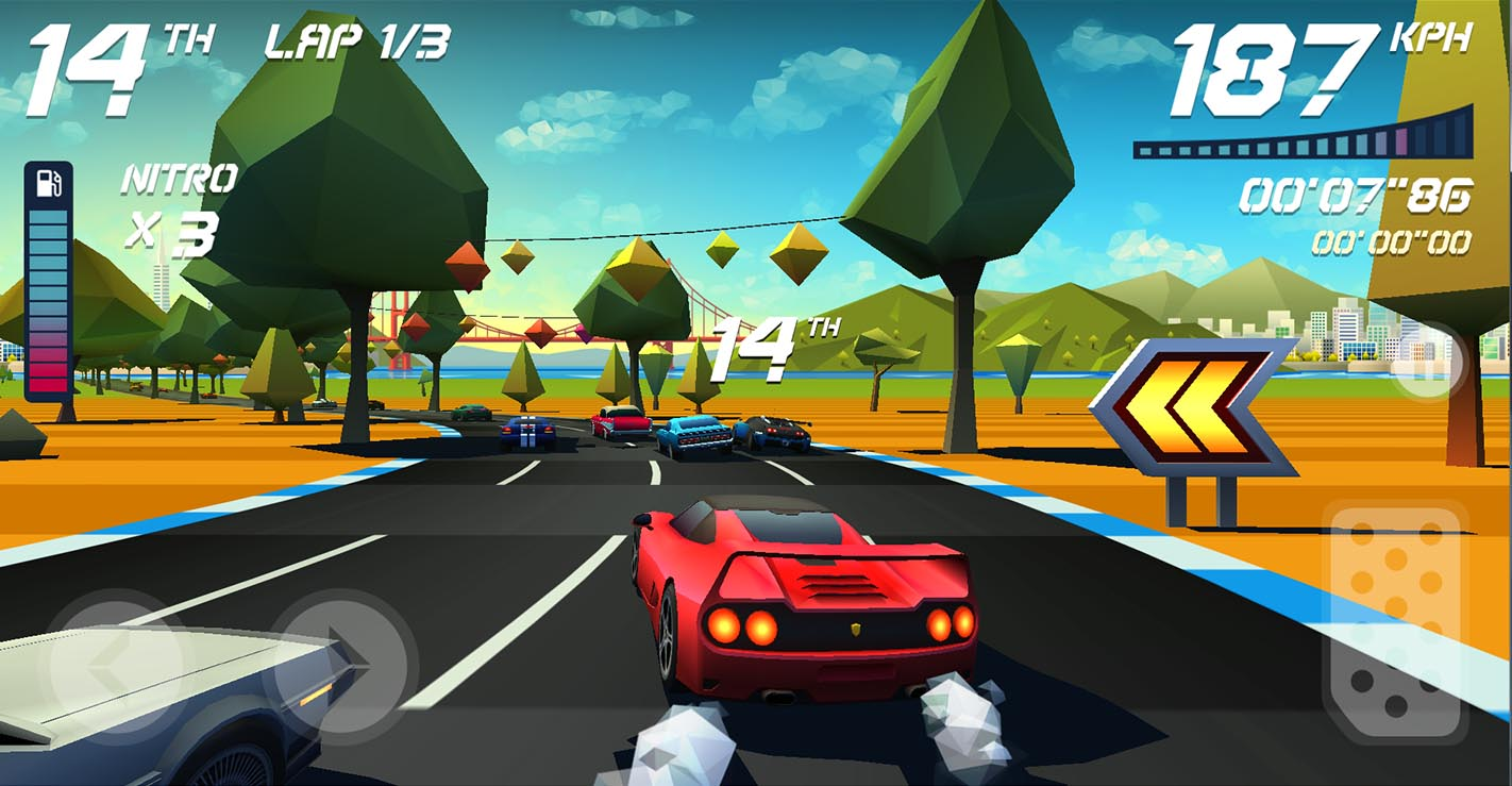 Horizon Chase s'offre de nouveaux circuits et un nouveau mode de jeu, cinq ans après sa sortie sur mobiles