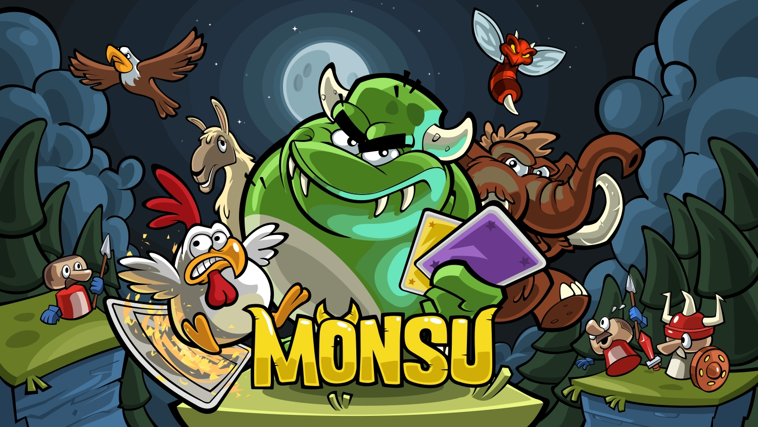 Monsu is a monster-fuelled F2P card-based action platformer now available in New Zealand