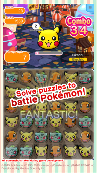 Pokemon Shuffle for iOS and Android is now available in the west too