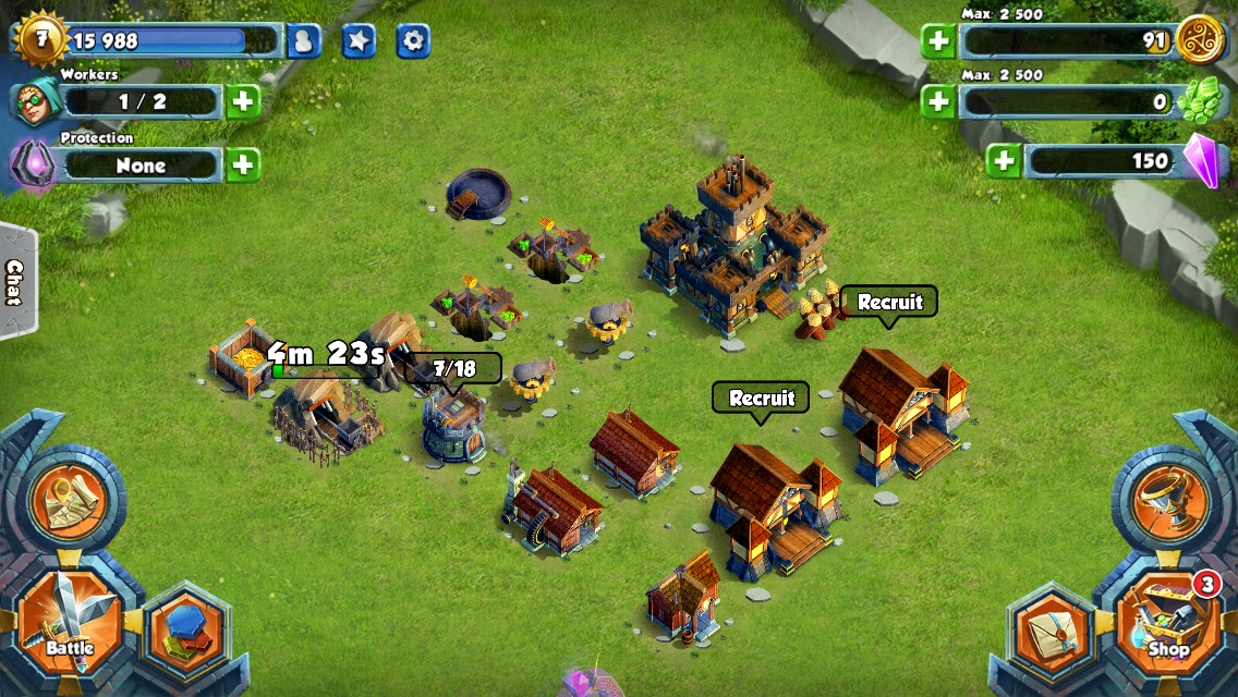 Gold Award-winning Clash of Clans beater Tiny Realms gets full PvP battles in monster update