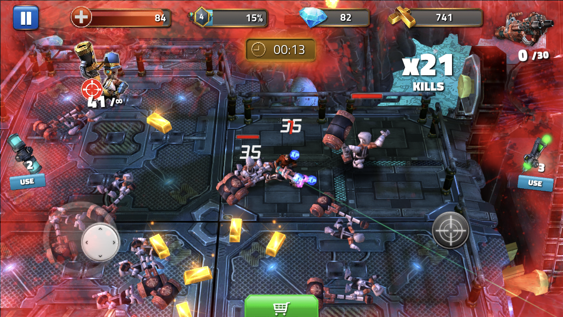 Clockwork Damage is a sharp twin-stick blaster that's out right now for iOS and Android