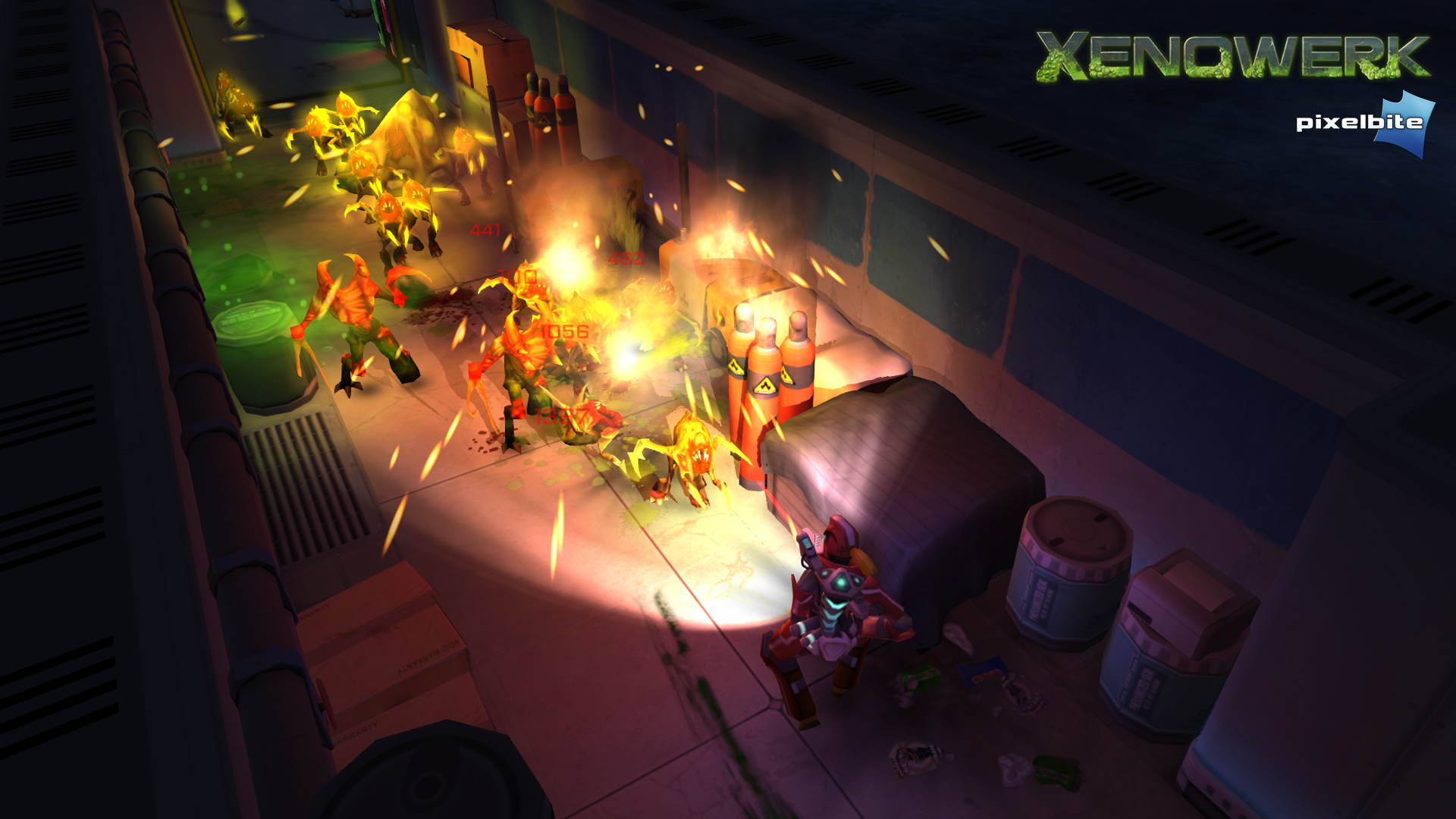 Bronze Award-winning shooter Xenowerk updated with ten new missions, weapons and more
