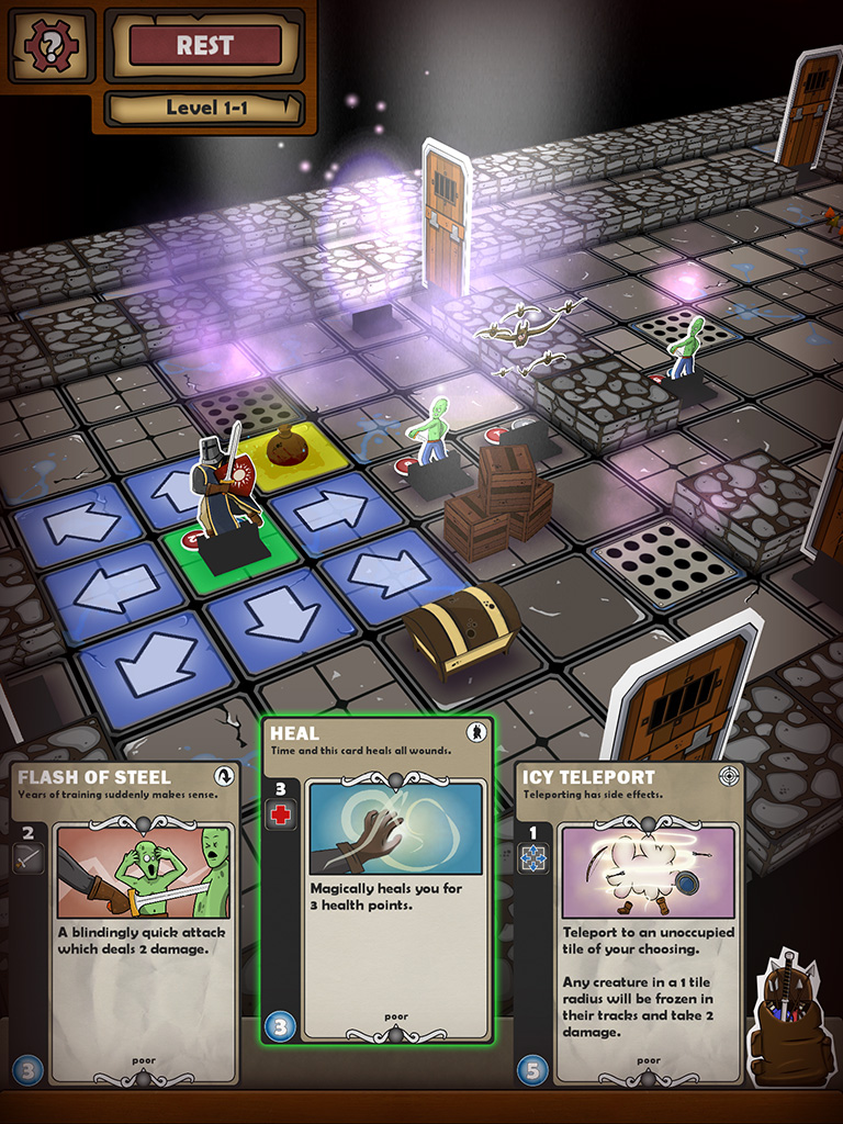 Roguelike boardgame mash-up Card Dungeon is out now on iOS