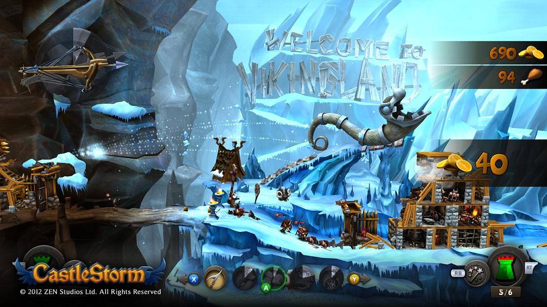 Zen Studios announces beautiful castle vs castle game CastleStorm